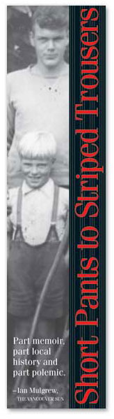 Short Pants to Striped Trousers: book mark